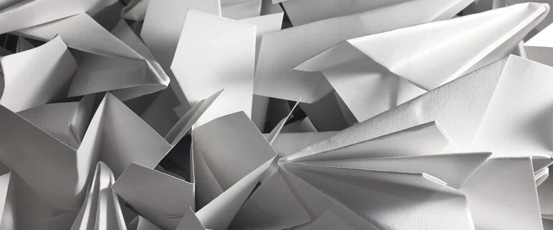 white airplane origami lot